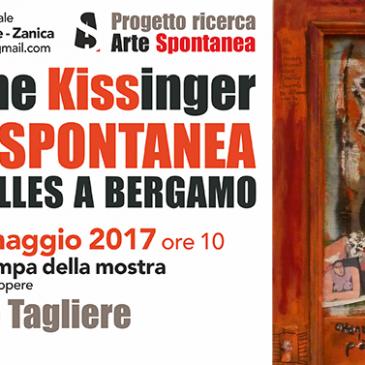 Conferenza stampa e  esposizione di alcune opere – Sabato 27 Maggio ore 10- Mostra  Claudine Kissinger : L'ARTE SPONTANEA DA BRUXELLES A BERGAMO