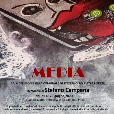 Mostra di Stefano Campana a Stezzano (BG) presso la Sala cerimonie nella villa comunale